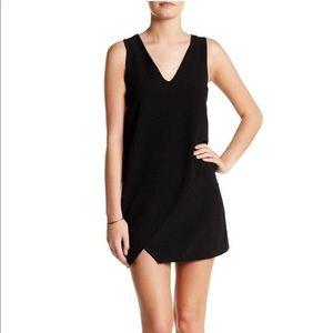NWT Dee Elly Black Asymmetrical Ruffle Dress